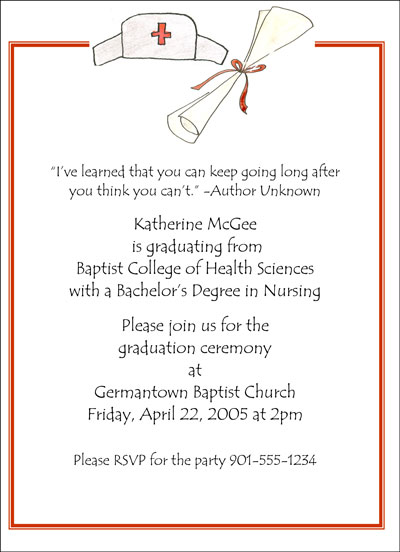 Nursing Graduation Invitation Templates with luxury invitation sample