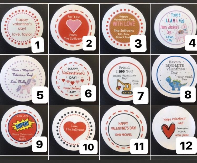 Valentine Round Stickers