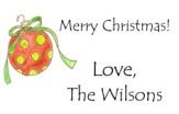 christmas dot ornament