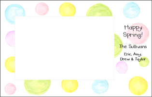 Pastel Dots Photo Card