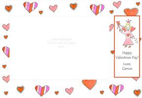Hearts with Fairy Valentine Photo