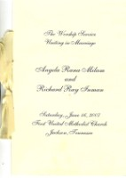 Wedding Program - 5.5 x 11 double sided