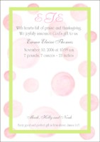 Pink Dots with green border