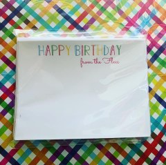 Note Cards - Birthday Notes Flat