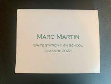 Graduation Name Notes Fold-Over (Masculine)
