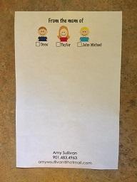 Mom Note Pad 2+ child - Set of 2