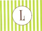 Lime Stripe Initial