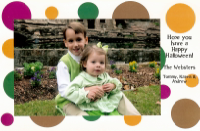 Fall Dots Photo Card