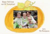 Pumpkin Photo Card