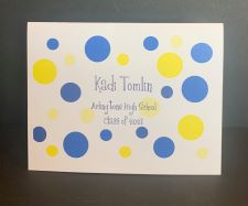 Graduation Name Notes with dots