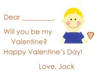 Valentine Boy Blonde Card