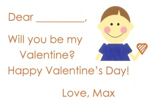 Valentine Boy Brown Card