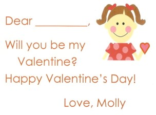 Valentine Girl Brown Card