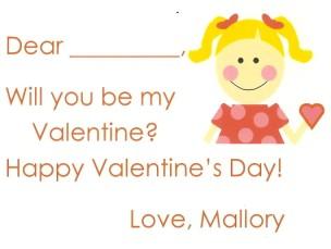 Valentine Girl Blonde Card