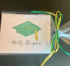 Graduation Hat Small Fold-Over Note
