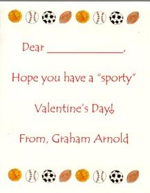 Sports Valentine