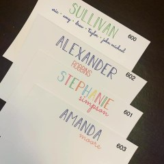 Note Cards - Name Notes Flat